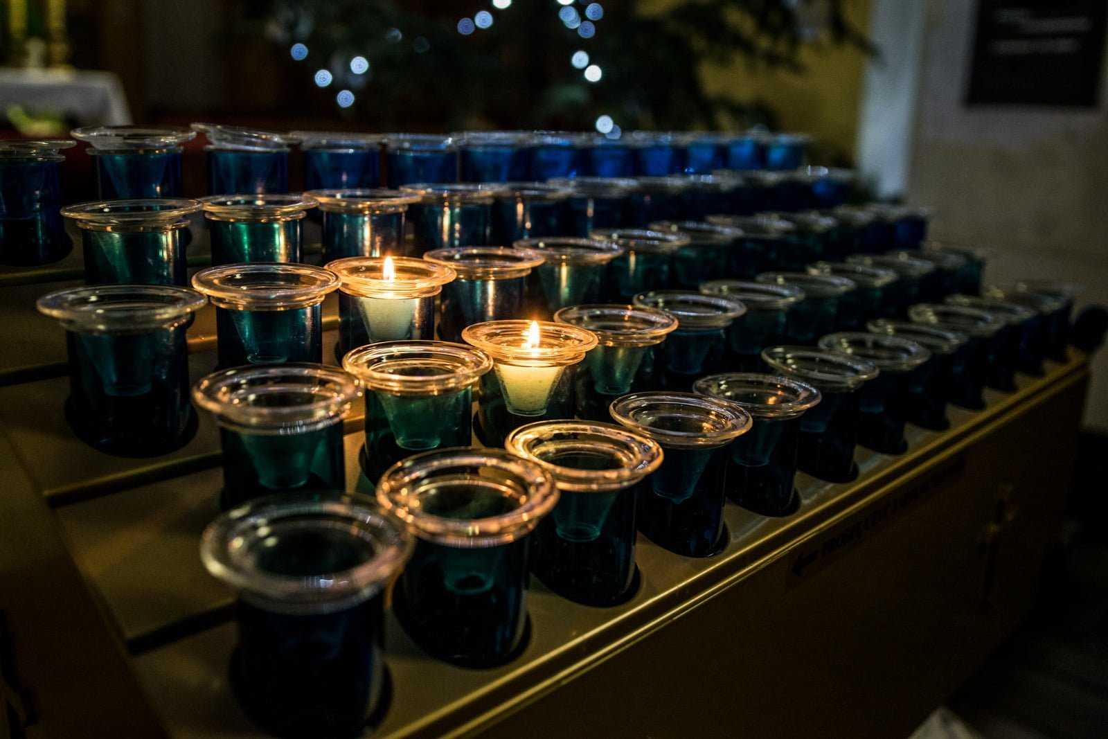 Świeczniki w kościele parafialnym w Krobi