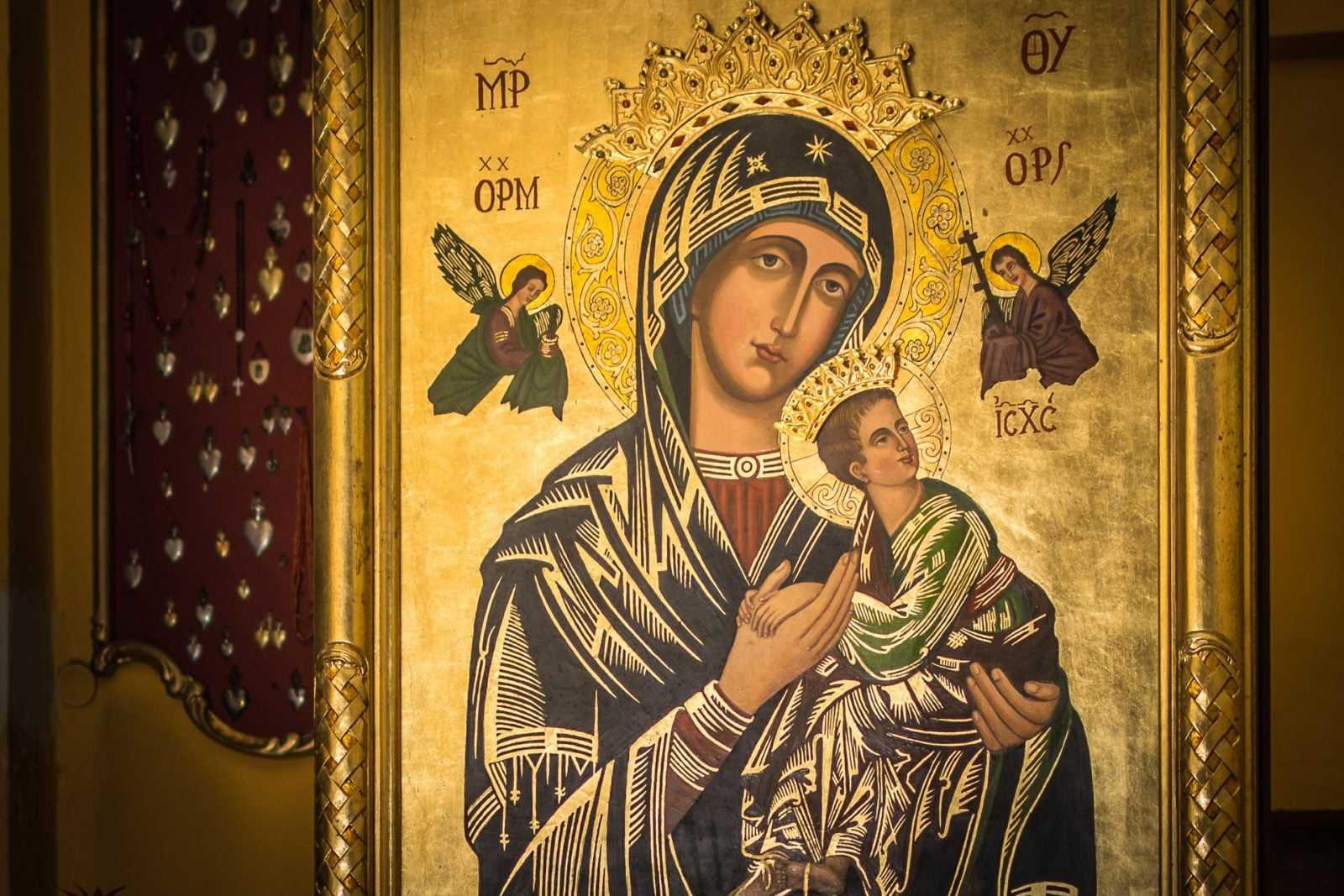 Obraz Matki Bożej Nieustającej Pomocy w kościele św. Mikołaja w Krobi