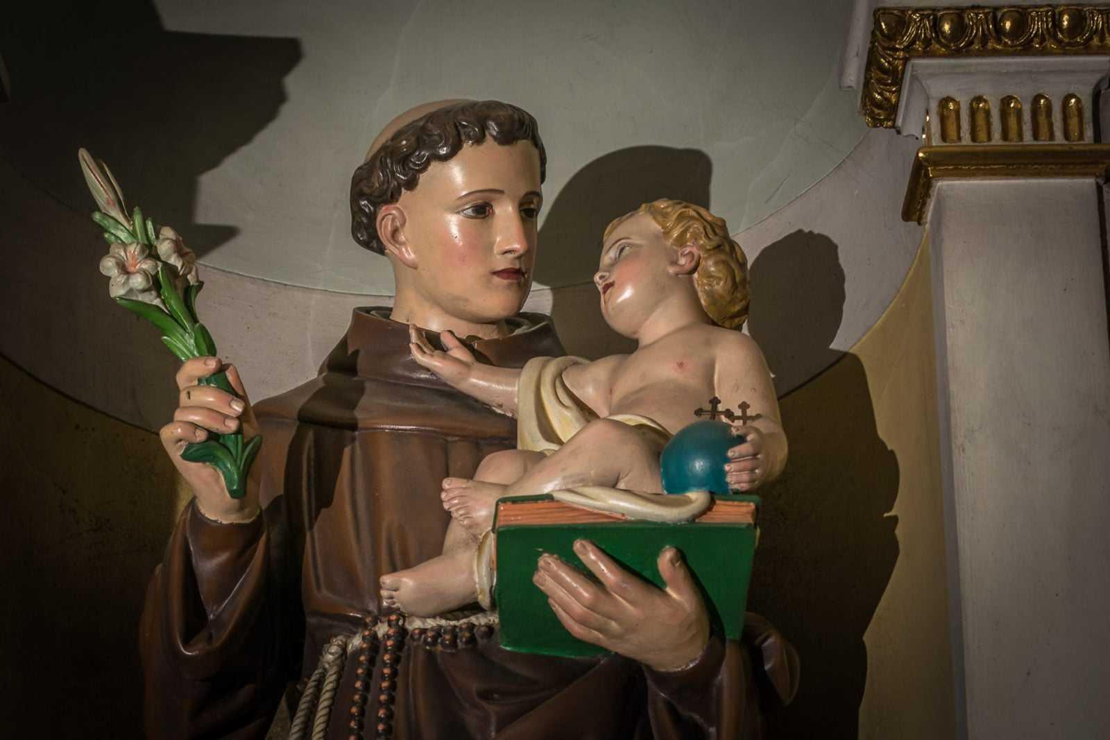 Figura w kościele św. Mikołaja w Krobi