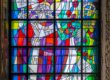 Witraż w kościele w Krobi