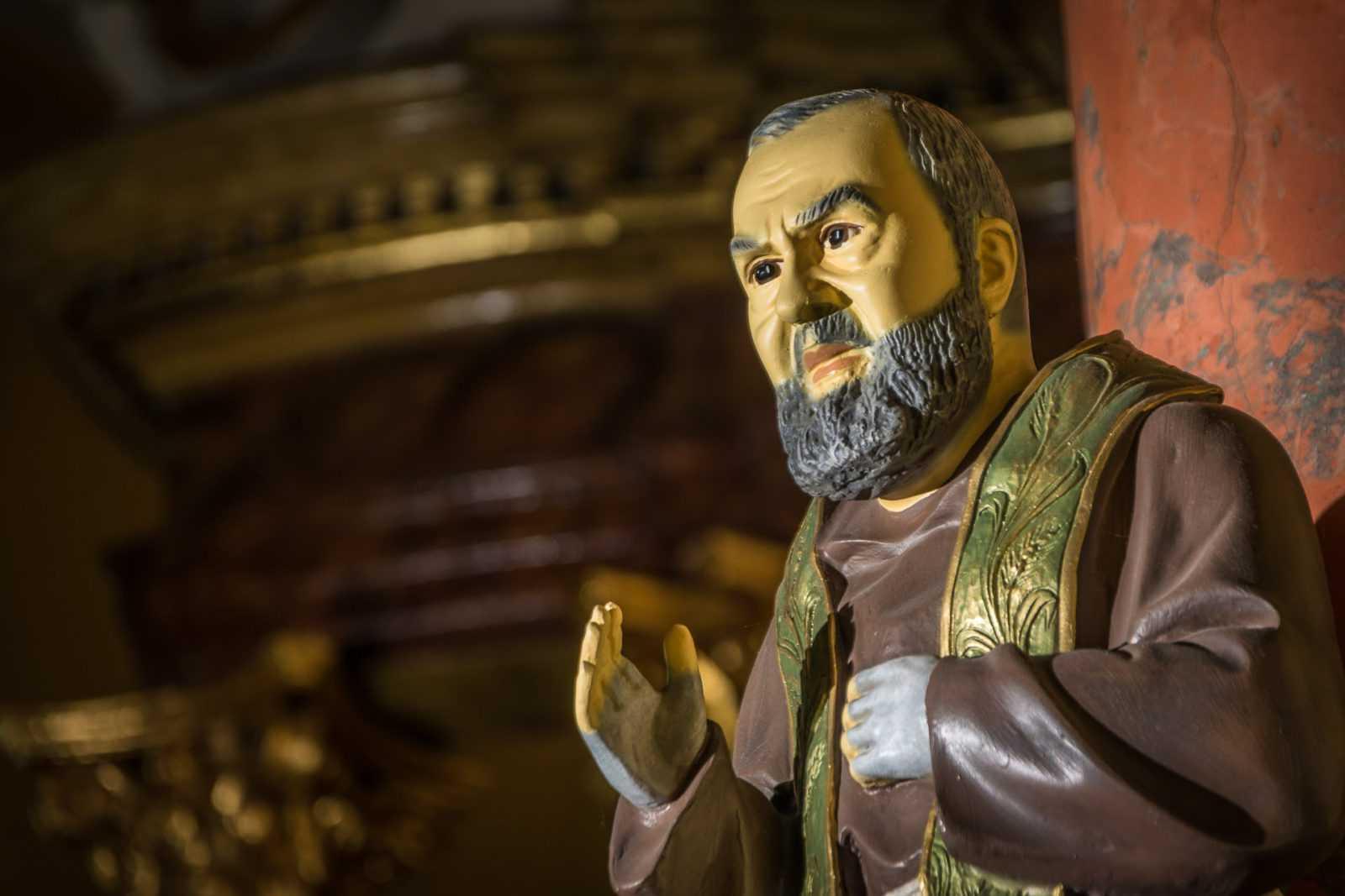 Ojciec Pio w kościele w Krobi