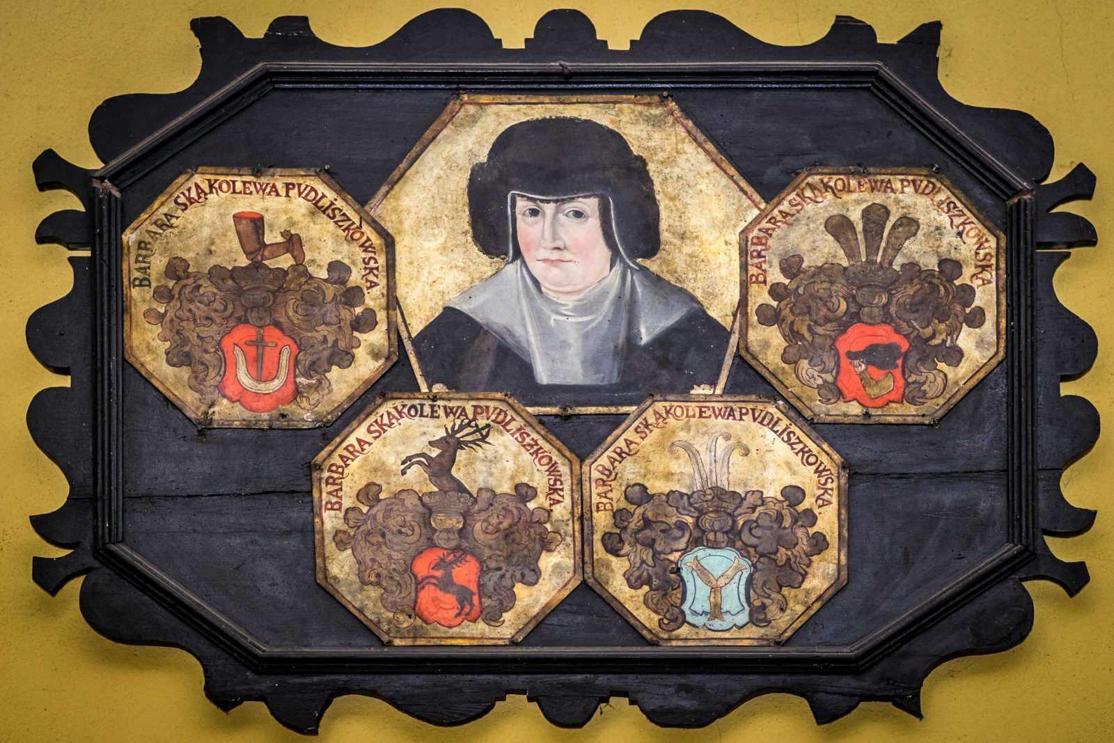 Barbara Pudliszkowska - portret trumienny w kościele św. Mikołaja w Krobi