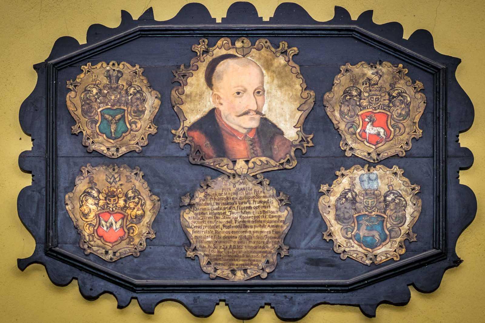 Parafia Krobia - Portret trumienny Piotra Pudliszkowskiego zm. 1654 r.
