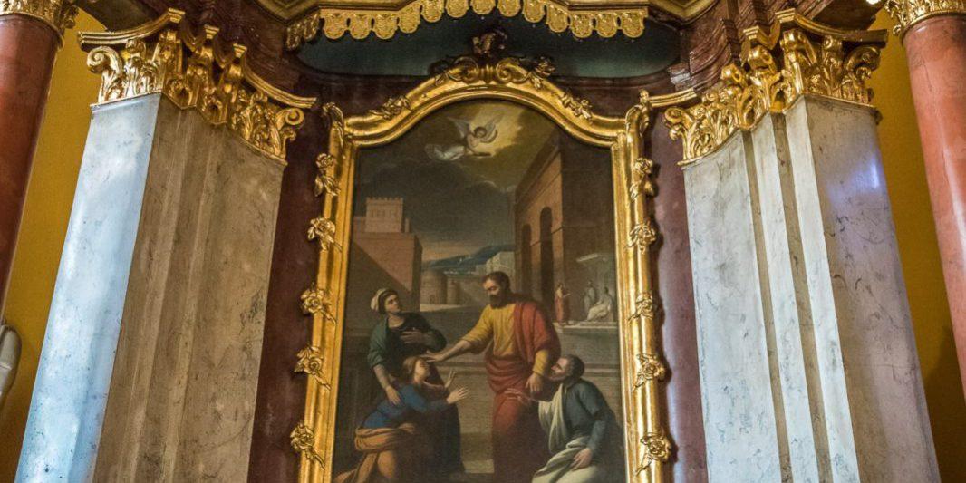 Parafia Krobia ołtarz św. Walentego