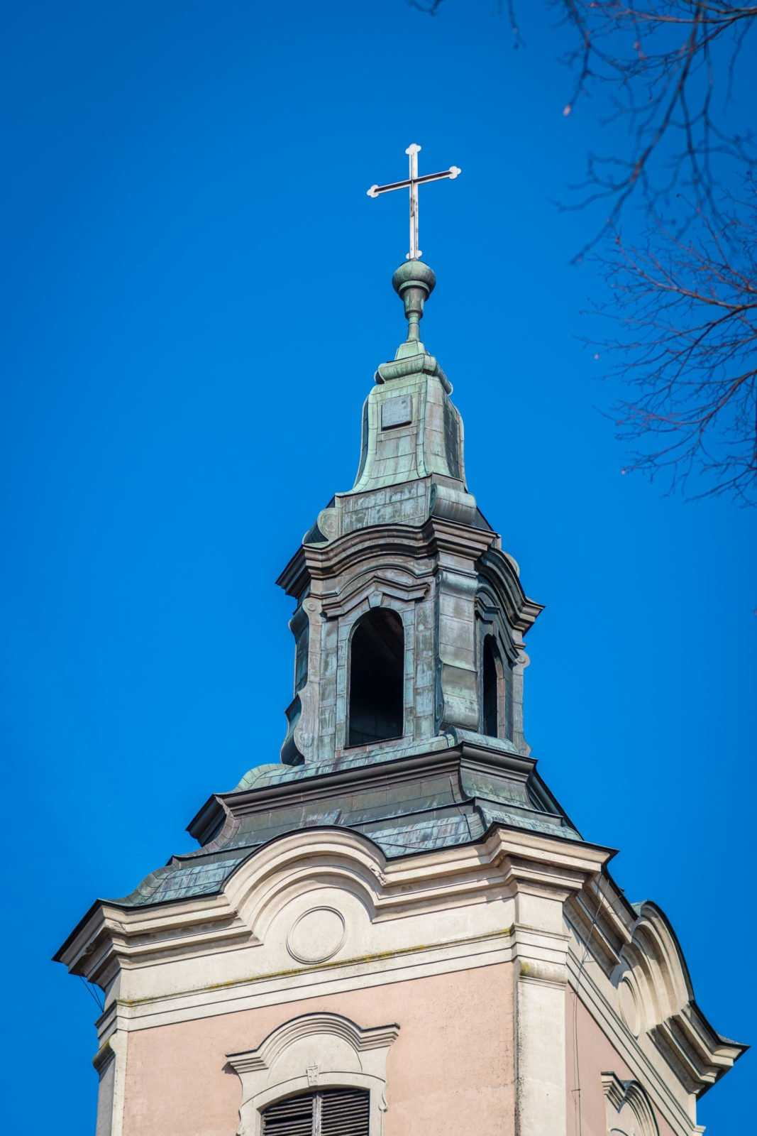 Wieża kościoła św. Mikołaja w Krobi